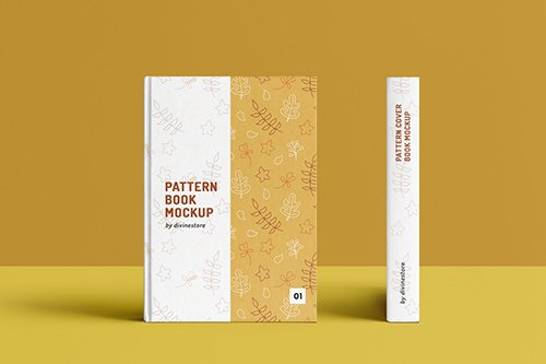 Pattern Cover Book Mockup PSD