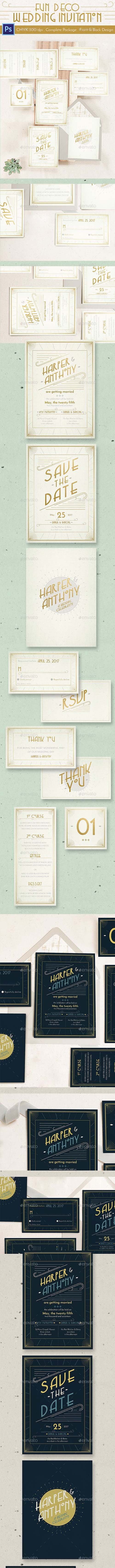 Fun Deco Wedding Invitation 15489530