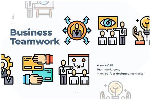 25 Business & Teamwork Icon set