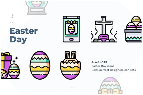 25 Easter Day Icon set