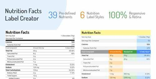 CodeCanyon - Nutrition Facts Label Creator v1.2.0 - Add-On for WP Bakery Page Builder - 19853457