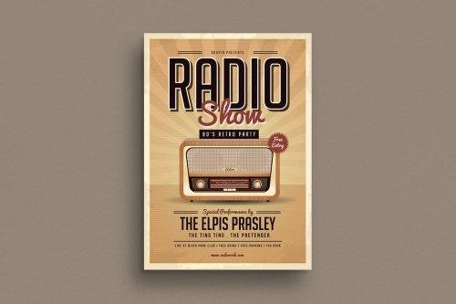 Retro Radio Party Flyer
