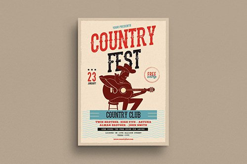 Country Festival Event Flyer