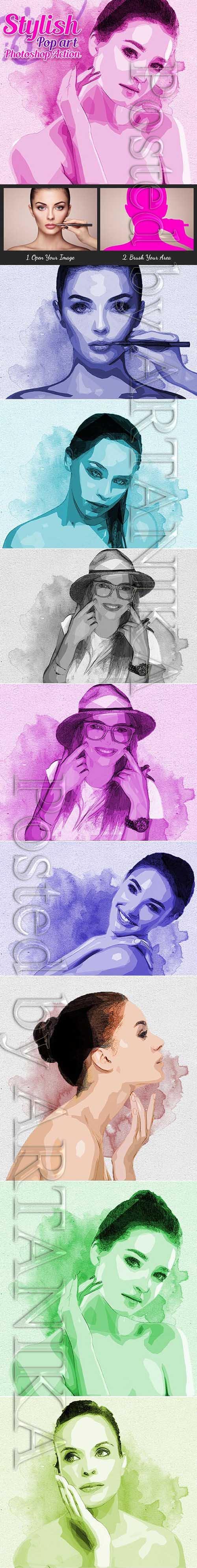 GraphicRiver - Stylish Pop Art Photoshop Action 21351891