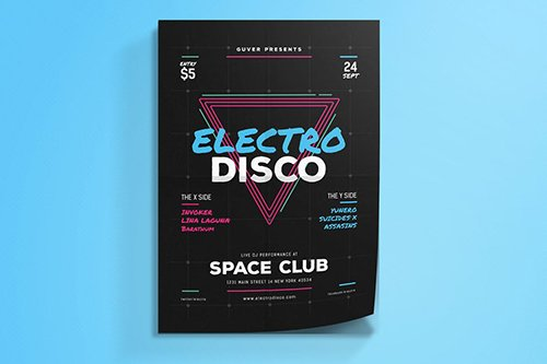 Electro Disco Event Flyer