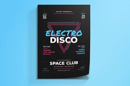 Electro Disco Event Flyer