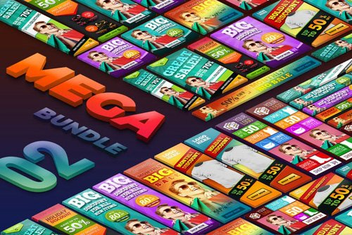 Sale Discount Mega Bundle Banner Ads