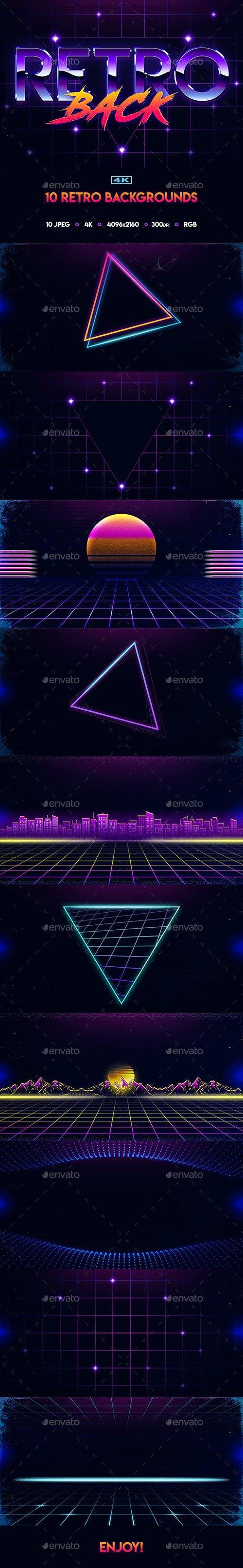 80s Retro Backgrounds 22592257