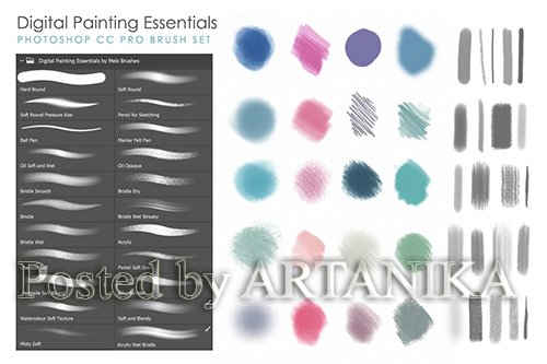 Artistic & Matte Painting Photoshop Brush Set