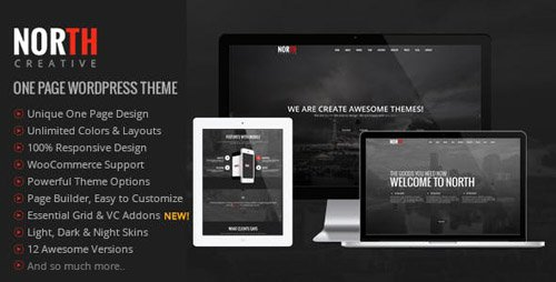 ThemeForest - North v4.0.7 - One Page Parallax WordPress Theme - 8454561