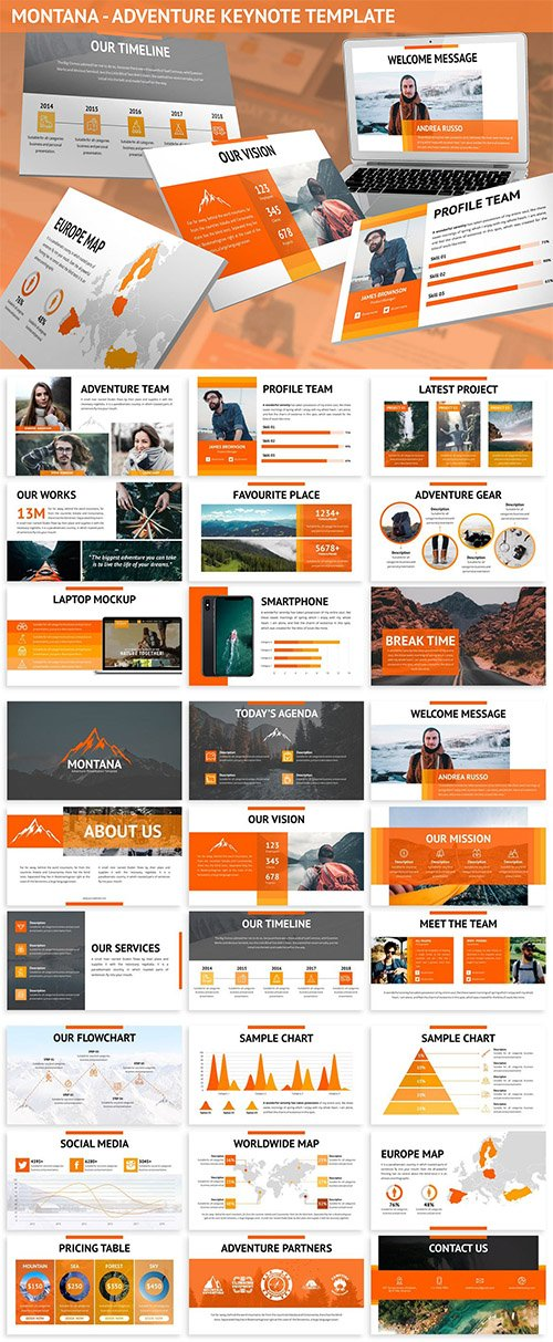 Montana - Adventure Keynote Template
