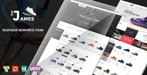 ThemeForest - James v1.5.1 - Responsive WooCommerce Shoes Theme - 15156133