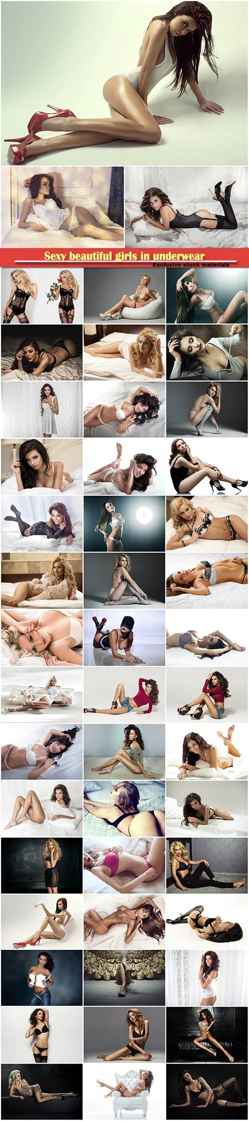 Sexy beautiful girls in underwear # 3