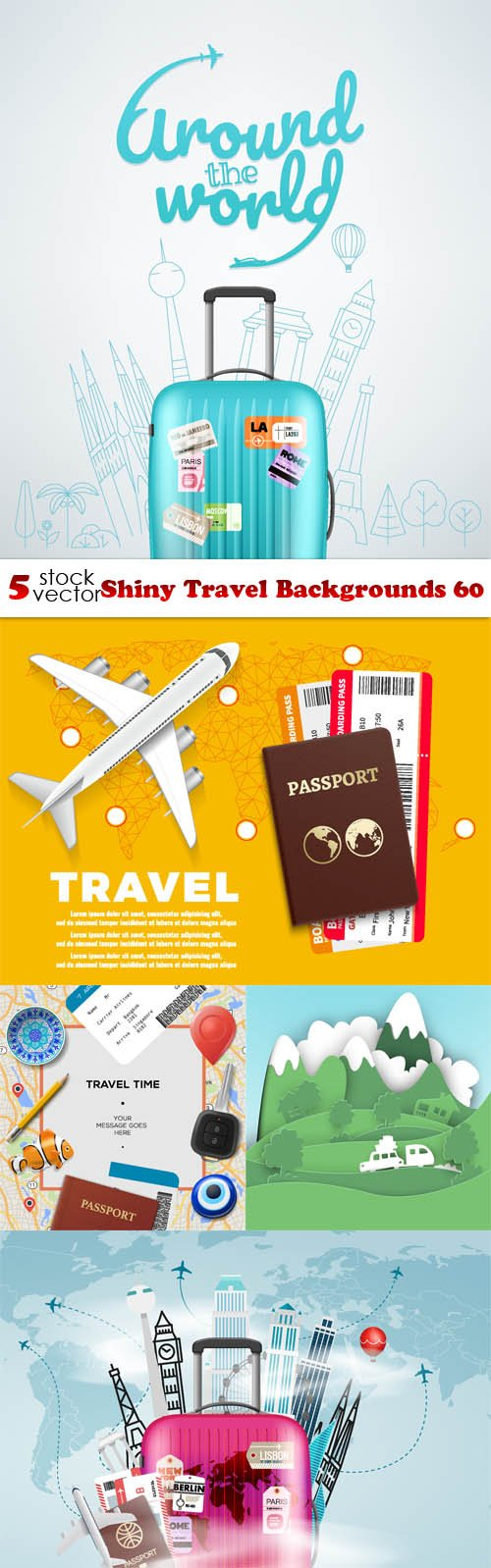 Vectors - Shiny Travel Backgrounds 60
