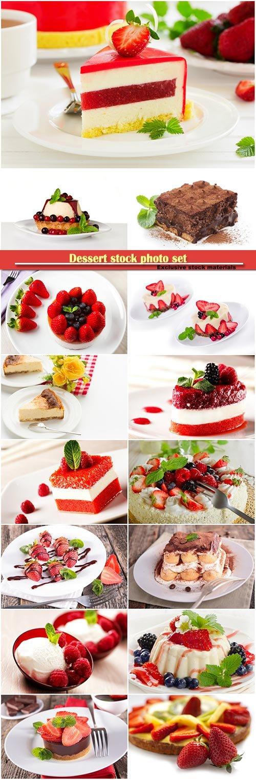 Dessert stock photo set
