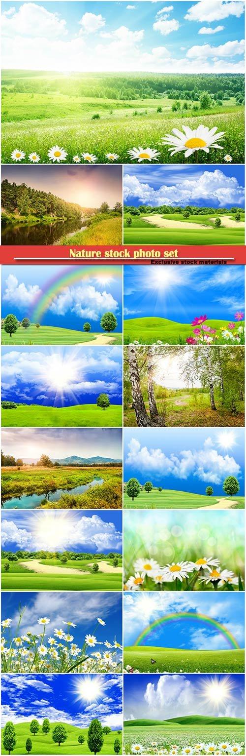 Nature stock photo set
