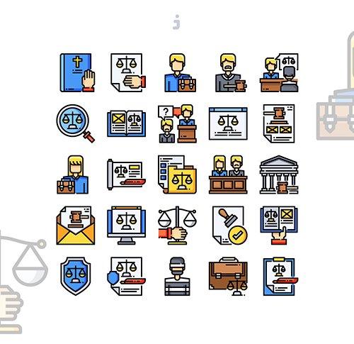 25 Law & Justice Icon set