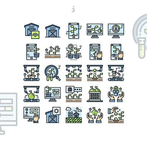 25 Smart Farm Icon set