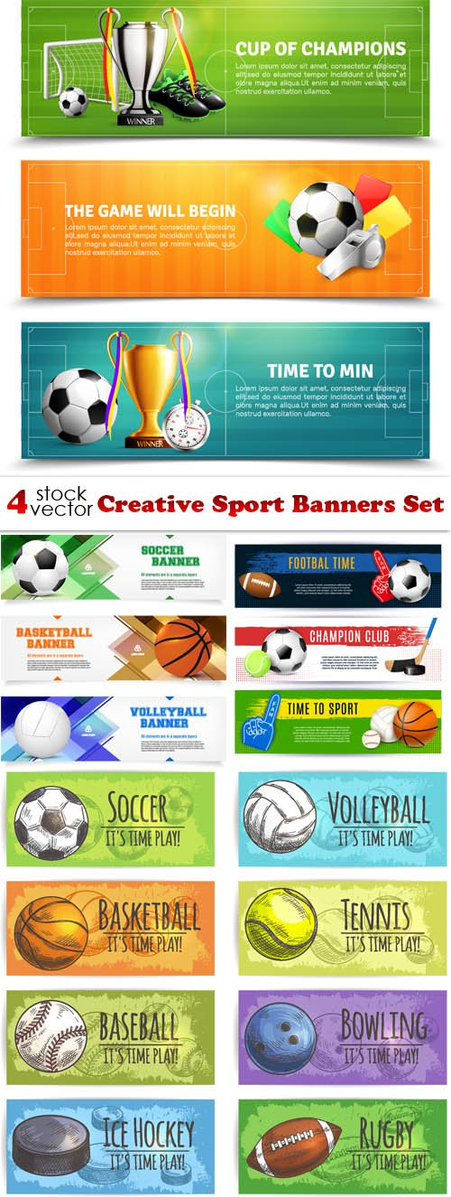 Vectors - Creative Sport Banners Set