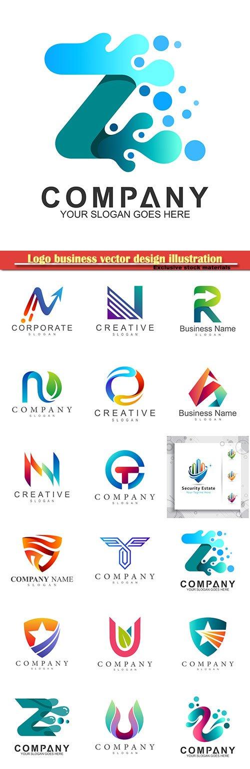Logo business vector design illustration # 80