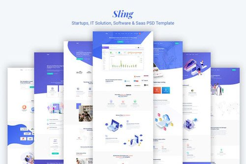 Sling - Startups IT Solution Software & Saas PSD