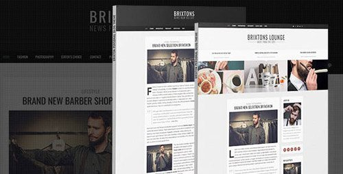 ThemeForest - Brixton v1.0 - Minimal & Personal PSD Blog Template - 10920151