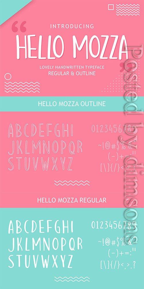 Hello Mozza - Display Font