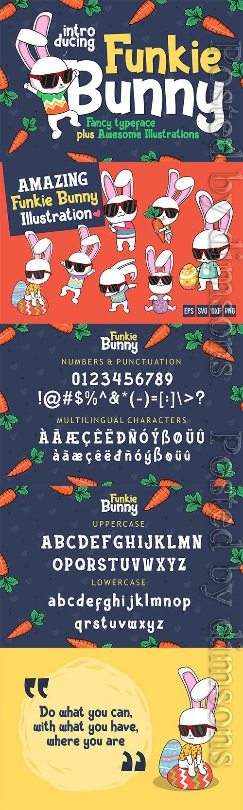 Funkie Bunny - Fancy Font (+EXTRA)