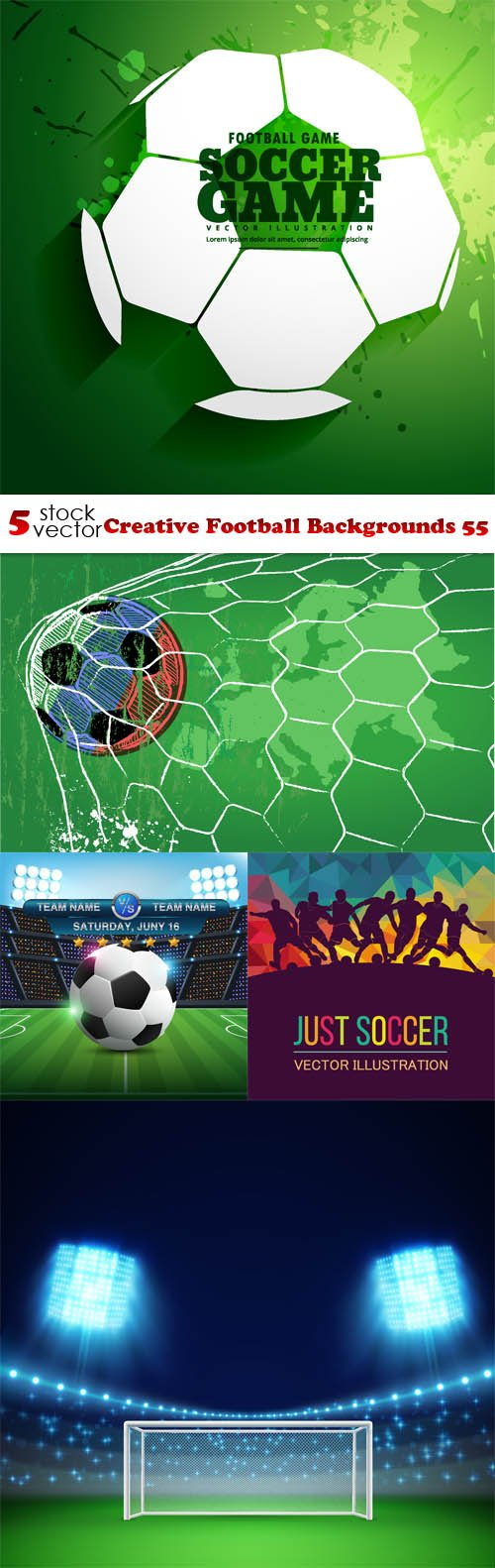 Vectors - Creative Football Backgrounds 55