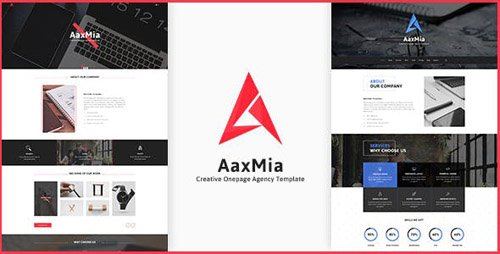 ThemeForest - AaxMia v1.0 - Onepage PSD Template - 18518557
