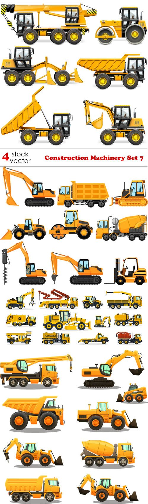 Vectors - Construction Machinery Set 7