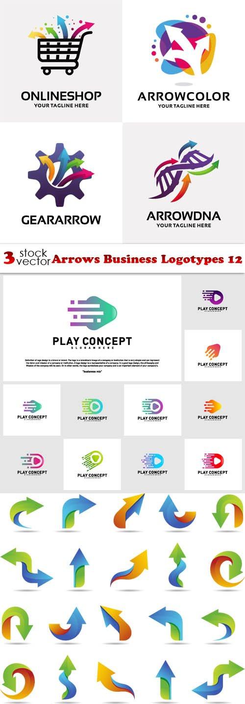 Vectors - Arrows Business Logotypes 12