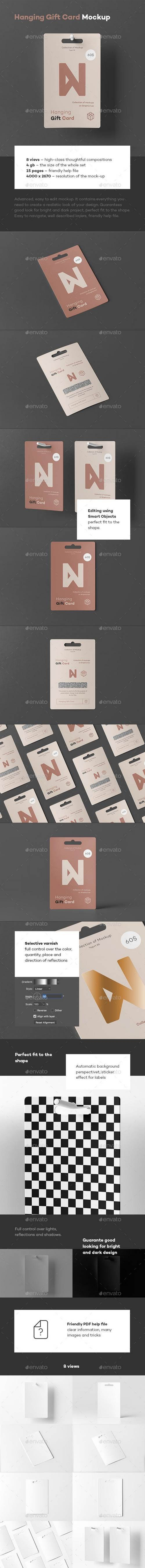 Hanging Gift Card Mock-up 23570893