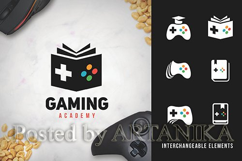 Gaming Academy Logo pack
