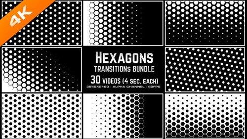 Hexagons Transitions Bundle 4K 23609125