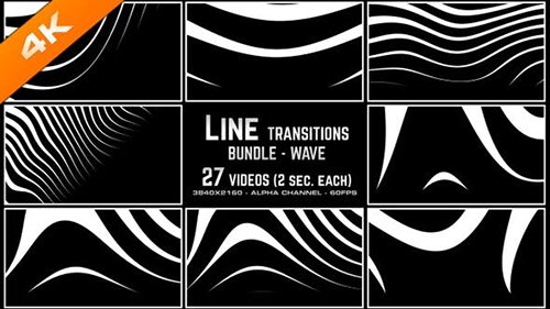Line Transitions Bundle - Wave 4K 23617291