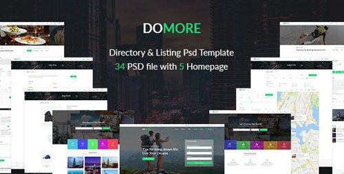 ThemeForest - DoMore v1.0 - Directory & Listing PSD Template - 22486665