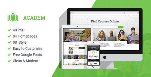 ThemeForest - Academ v1.0 - Multiconcept College & Education PSD Template - 21015815