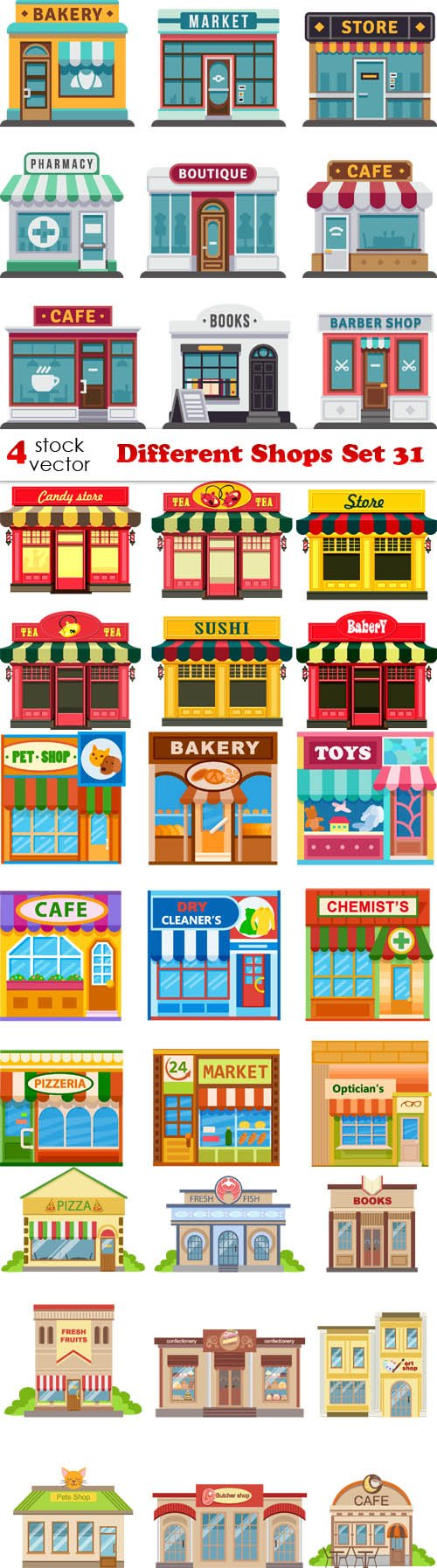 Vectors - Different Shops Set 31