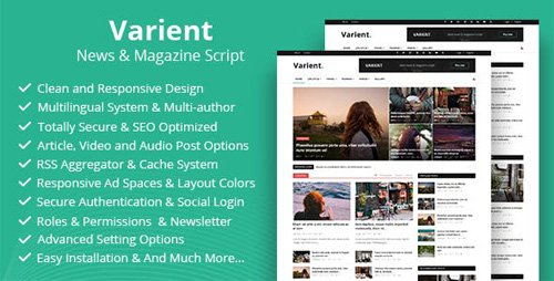CodeCanyon - Varient v1.5.5 - News & Magazine Script - 21035226 - NULLED