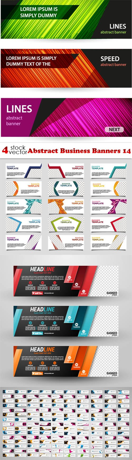 Vectors - Abstract Business Banners 14