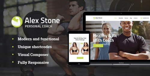 ThemeForest - Alex Stone v1.1 - Personal Gym Trainer WordPress Theme - 20793046
