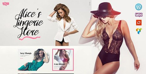 ThemeForest - Alice's v1.3.3 -  Lingerie Store and Fashion Boutique WordPress Theme - 19274651