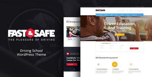ThemeForest - Fast Safe v1.2 - Driving School WordPress Theme - 19600263