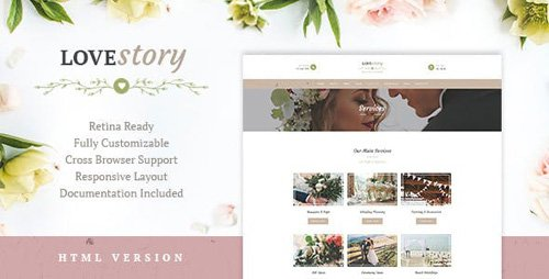 ThemeForest - Love Story v1.2 - Wedding and Event Planner Site Template - 19766609