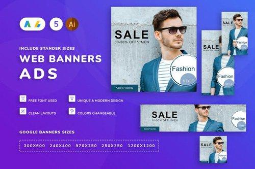 Seals Men Clothes Banner Template - PHVAS3R