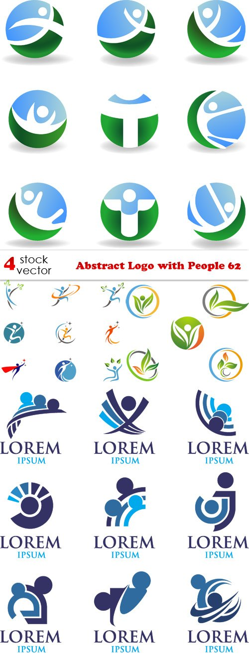 Vectors - Abstract Logo with People 62