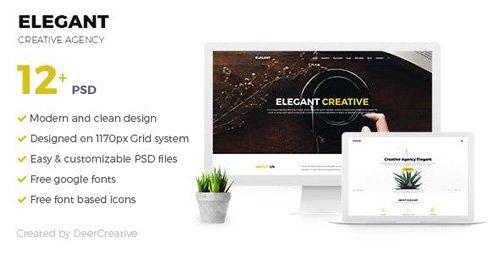 ThemeForest - ELEGANT v1.0 - Creative Agency PSD Template - 19804391