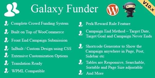 CodeCanyon - Galaxy Funder v10.9 - WooCommerce Crowdfunding System - 7360954