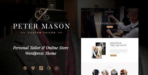 ThemeForest - Peter Mason v1.2.0 - Custom Tailoring and Clothing Store WordPress Theme - 19324964